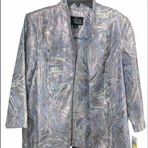 Alex Evenings Periwinkle Jacket. Size M.